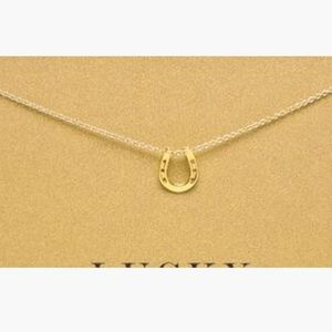 """Salty Cold Brew Jewelry - Dainty """"Lucky Horseshoe"""" Pendant Necklace"""